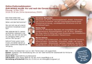 Podiumsdiskussion Einladung Programm